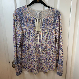 NWT Lucky Brand Floral Peasant Top. Small